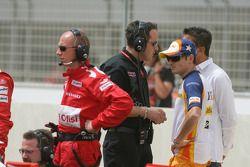 Giancarlo Fisichella (Renault F1) on the GP2 grid