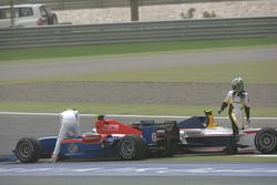 Andreas Zuber (GER, iSport International) and Lucas di Grassi (BRA, ART Grand Prix)