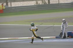 Lucas di Grassi (BRA, ART Grand Prix) and Andreas Zuber (GER, iSport International)