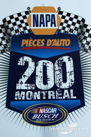Logo pour la course de Montréal NAPA Pièces auto 200 de la série Busch NASCAR