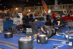 Red Bull Team Forsythe team works on John Edwards' car