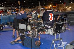 Red Bull Team Forsythe team works on Robert Wickens' car