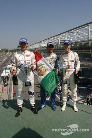 Milos Pavlovic, Team Draco Multiracing USA, Salvador Duran, Team Interwetten.com, Sebastian Vettel, Carlin Motorsport