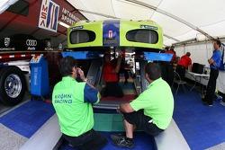 Risi Competizione Ferrari 430 GT à l'inspection technique