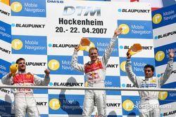 Podium: le vainqueur Mattias Ekström, deuxième Martin Tomczyk et troisème Bruno Spengler