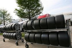 Pneus Michelin dans le paddock