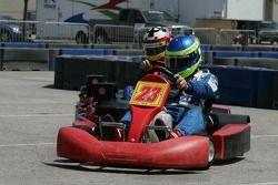 Go-kart celebrity race: Ben Devlin