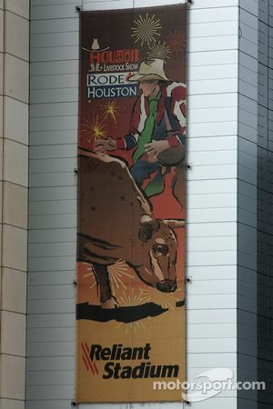 Banner on the Reliant Stadium