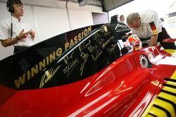 WINNING PASSION sur le capot moteur de la F1 Equipe d'Allemagne