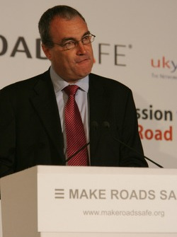 UN Rally for Safer Roads, Dr Stephen Ladyman MP, Minister, State for Transport