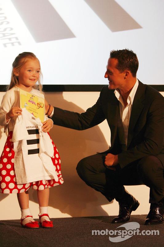 UN Rally for Safer Roads, Michael Schumacher, Scuderia Ferrari, Advisor, presents awards to competit