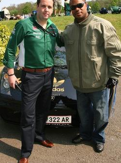 Mark Kershaw, Seat Holder of A1Team Ireland with Xzibit