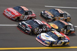 Carl Edwards, Denny Hamlin and Kyle Petty
