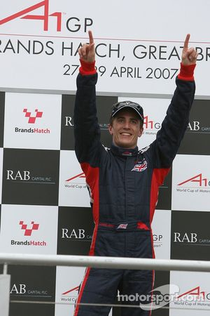 Podium: 1st place Robbie Kerr, Driver of A1Team Great Britain