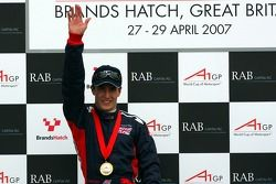 Podium: Robbie Kerr, Driver of A1Team Great Britain