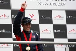 Podium: Robbie Kerr, Driver of A1Team Great Britain on the podium