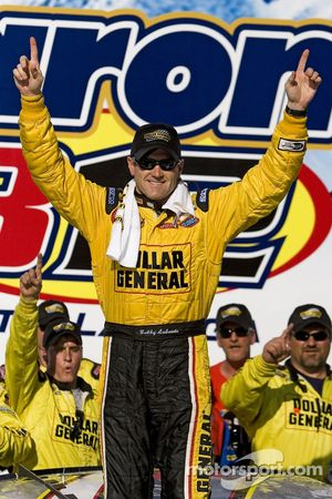 Victory lany: race winner Bobby Labonte celebrates