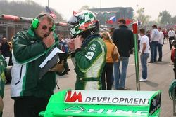 Gary Anderson and Richard Lyons, Driver of A1Team Ireland