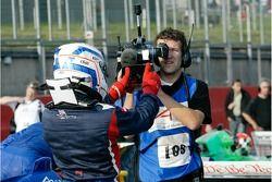 Équipe A1 Grande-Bretagne Lola A1GP de Robbie Kerr revient après s'être qualifié en pole position po