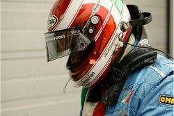 A1 Team Italydriver Enrico Toccacelo, 3rd in th3 A1 GP Sprint race at Brands Hatch