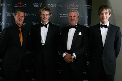 Michael Schumacher with the A1GP Championship winning team Germany with Nico Hulkenberg, Willi Weber, Seat Holder of A1Team Germany and Christian Vietoris