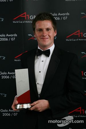 Jonny Reid, Driver of A1Team New Zealand takes the most improved driver award