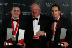 Second place nation Team New Zealand with Jonny Reid, Colin Giltrap and Matt Halliday