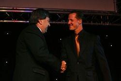 Tony Teixeira, A1GP with Michael Schumacher