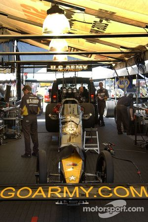 Tony Schumacher's car is ready for qualifying