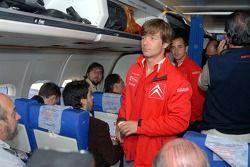 Себастьен Лёб в самолете из Буэнос-Айреса в Кордобу