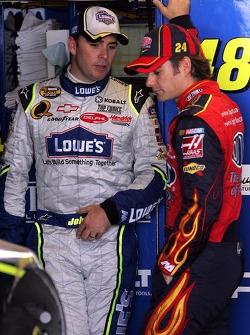 Jimmie Johnson et Jeff Gordon