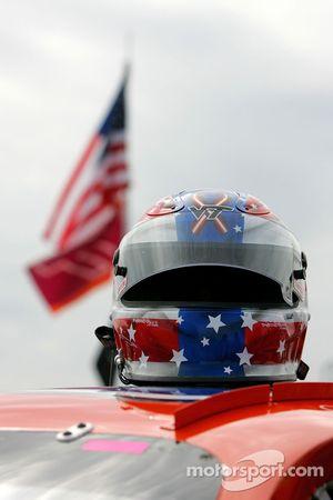 Helmet worn by Eric McClure