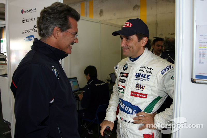 Dr. Mario Theissen ed Alex Zanardi, BMW Team Italy-Spain, BMW 320si WTCC
