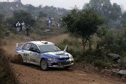 Claudiu David et Mihaela Beldie, OMV BIXXOL Rally Team Mitsubishi Lancer