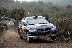 Андреа Айгнер и Клаус Виха, Red Bull Rallye Team, Mitsubishi Lancer Evo IX