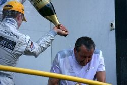 Paul di Resta, Persson Motorsport AMG Mercedes spraying champaign over Igmar Persson, Team Owner Persson Motorsport