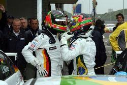 Jorg Müller, BMW Team Germany, BMW 320si WTCC; Augusto Farfus, BMW Team Germany, BMW 320si WTCC