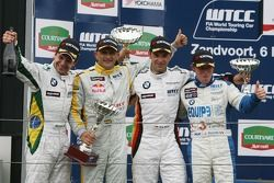 Course 2, Podium, Augusto Farfus, BMW Team Germany, BMW 320si WTCC, Jorg Muller, BMW Team Germany, B