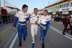 Bruno Famin, Stéphane Sarrazin et Michel Barge fêtent la victoire