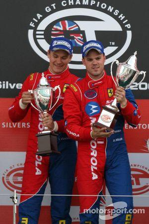 GT2 podium: class winners Toni Vilander and Dirk Muller