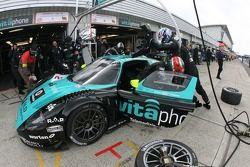 Arrêt au stand pour #2 Vitaphone Racing Team Maserati MC 12 GT1: Miguel Ramos, Christian Montanari