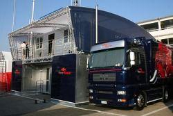 Toro Rosso Transporter ve mühendiss room