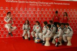 Vodafone Spain Go-Karting Challenge: Fernando Alonso, McLaren Mercedes answers questions from youngs