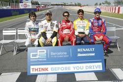 Sergio Jimenez, Lucas di Grassi, Antonio Pizzonia, Xandi Negrao and Bruno Senna