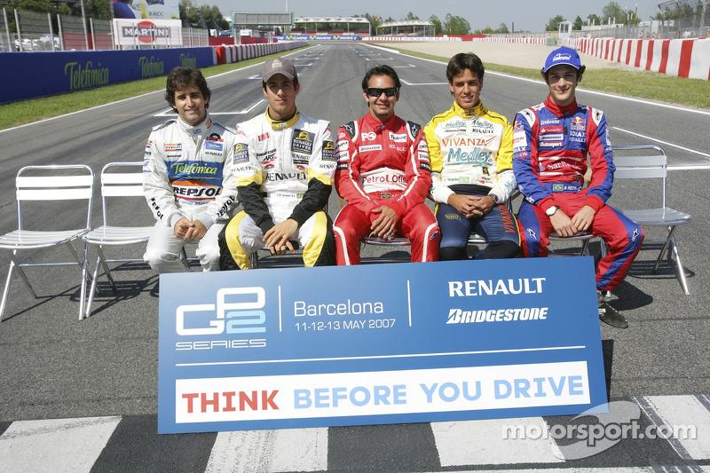 Além dele, Lucas di Grassi, Antonio Pizzonia, Xande Negrão e Bruno Senna eram os outros brasileiros