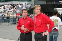 Scott Goodyear et Rusty Wallace
