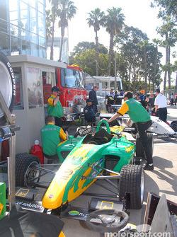 Ryan Lewis' car returns to paddock