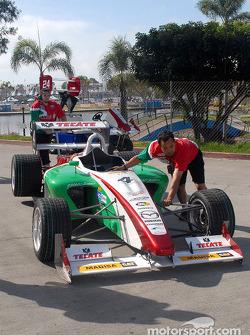 David Garza's car returns to paddock