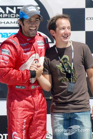 Podium: Cristiano da Matta rejoint le vainqueur Raphael Matos