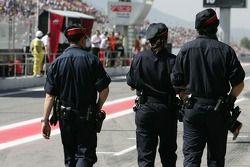 Police pitlane